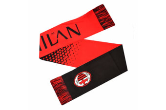 AC Milan Official Fade Crest Design Scarf (Red/Black) (One Size)