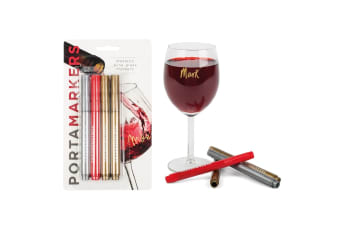 Porta Markers 4 Pack Metallic Glass Markers