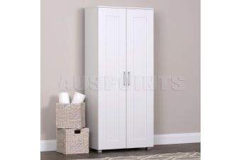 Storage Cabinet Organiser Double Door Tall Shelf Cupboard Display RRP $349!!