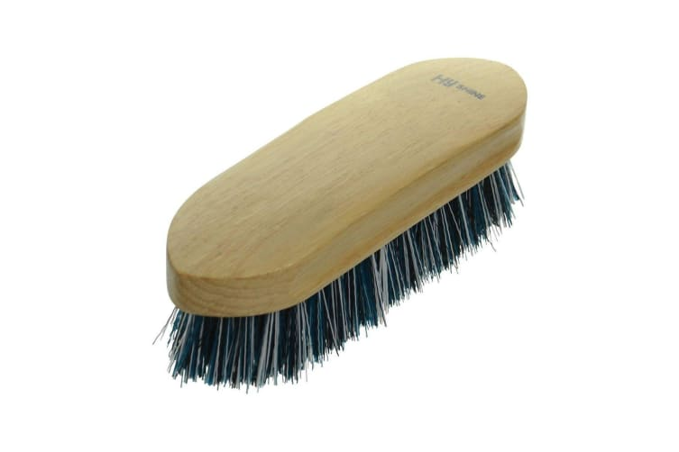 HySHINE Natural Wooden Dandy Brush (Teal/Black/White) (Small)