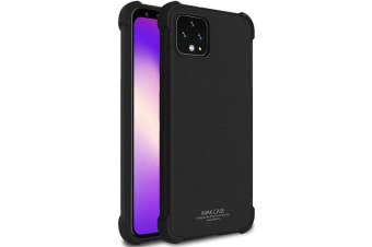 For Google Pixel 4 IMAK All-inclusive Shockproof Airbag TPU Case  Frosted Black