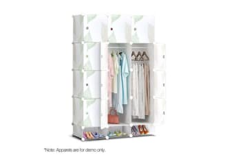 DIY 15 Cube Wardrobe Storage Cabinet Organiser Shoe Rack Toy Bookshelf Portable