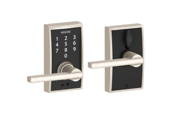 Schlage Touch Keyless Touchscreen Lever with Century Trim and Latitude Lever