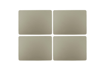 4pc Zic Zac Togo 33x45cm Rectangular Double Sided PVC Placemat Tablemats Taupe