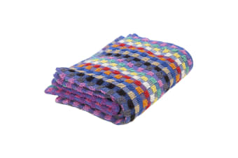 Cotton Check Terry Hand Towels (Pack Of 3) (Blue/Multi) (One SIze)