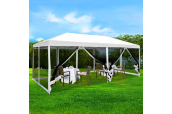 Pop Up Gazebo 3x6m Wedding Marquee Mesh Side Wall Outdoor Gazebos
