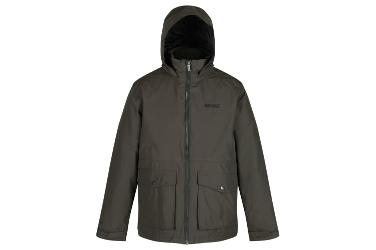 Regatta Mens Hebson Hooded Jacket (Bayleaf) (S)