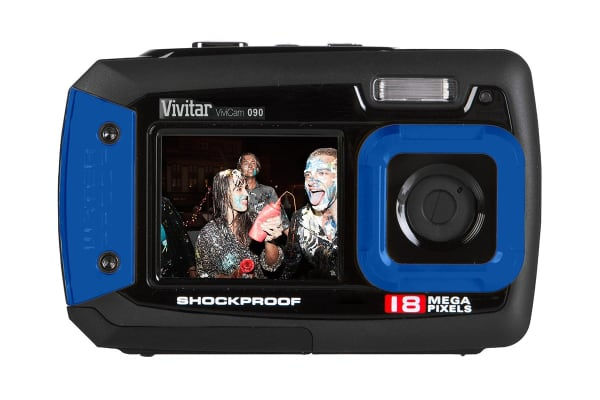 Vivitar 18.1MP Camera Dual Screen Waterproof (VE090-BOX-BLU-AU)
