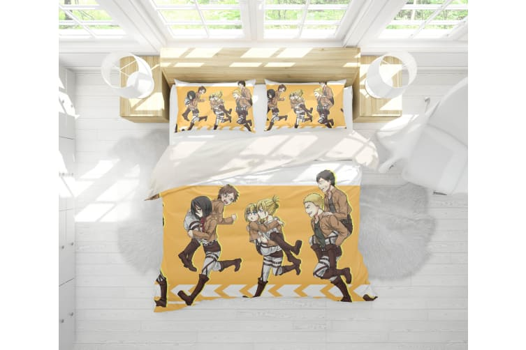 3D Anime Attack Giant Quilt Cover Set Bedding Set Pillowcases 85-Double