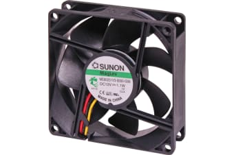 Sunon High Performance Cooling Fan Maglev Bearing 80 x80 x 25mm 3 Wire 2600RPM