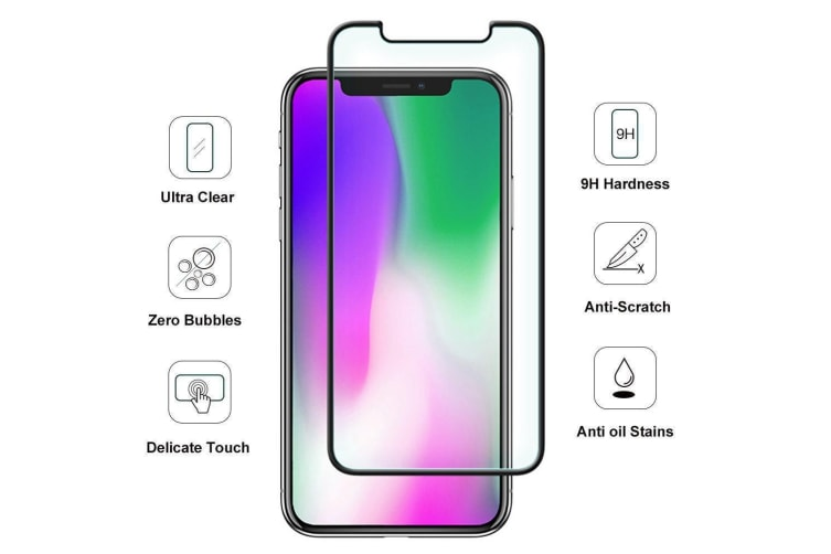 For iPhone XS Max Full Screen 3D 9H Tempered Glass Screen Protector iCoverLover