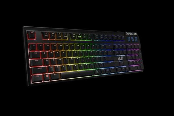 ASUS Cerberus Mech RGB/BRN mechanical gaming keyboard with RGB backlit effects dedicated hot keys