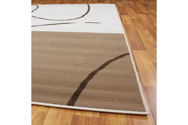 Funky Pattern Rug Brown Beige Latte 230x160cm