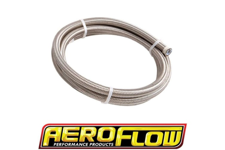Aeroflow SS Teflon Braided Hose -6AN 15M Clamshell Pack 11.3mm Od