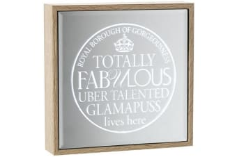 Fabulous Glamapuss Light Up Frame Mirror (Wood/Mirror) (One Size)