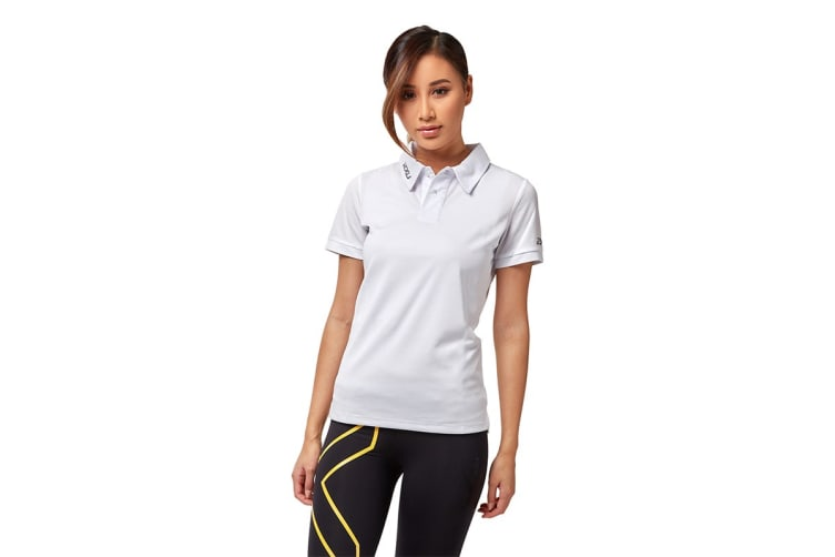 2XU Women's Performance Polo (White/White, Size XXS)