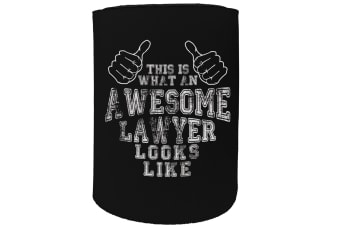 123t Stubby Holder - awesome lawyer - Funny Novelty