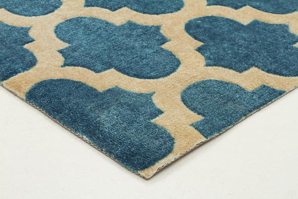 Trellis Stylish Design Rug Blue 320x230cm