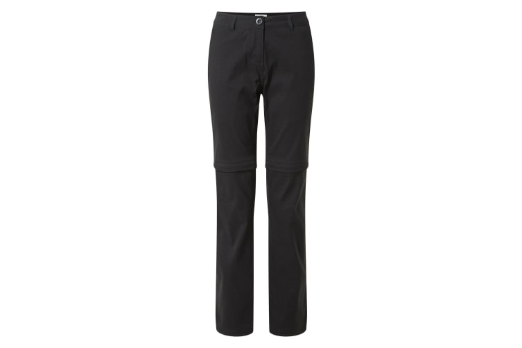 Craghoppers Womens/Ladies Kiwi Pro II Convertible Trousers (Black) (16R UK)