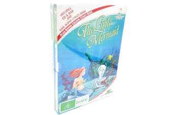The little Mermaid CD & and storybook box set -Kids Region 4 DVD NEW