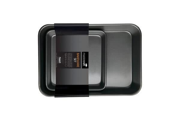 MasterCraft Non-Stick Roast Pan Twin Pack (Roasting Pan/Square Bake Pan)