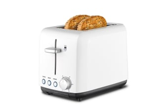 Kambrook Perfect Fit Wide Slot 2 Slice Toaster - White (KTA120WHT)