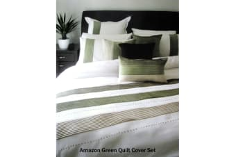 Amazon Green Quilt Cover Set by Manhattan