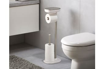 "Joseph Joseph EasyStoreâ""¢ Standing Toilet Paper Holder Stainless Steel Dual Shelf"