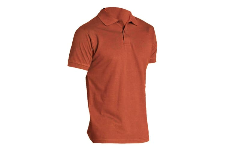 SOLS Mens Perfect Pique Short Sleeve Polo Shirt (Orange) (S)