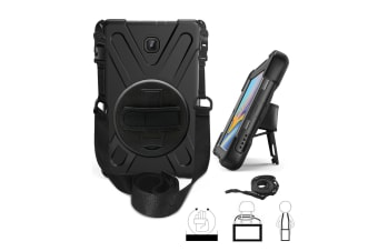 For Galaxy Tab active2 8.0 T390/T395/T397 ShockProof Hybrid Rugged Tablet Cover Case-Black