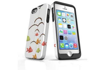 For iPhone SE  5S & 5 Shielding Back Case  Curious Fish