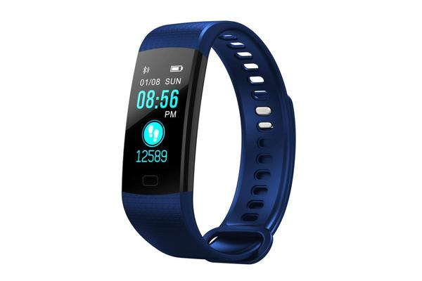 """TODO Bluetooth V4.0 Fitness Band Watch Heart Rate Blood Oxygen Ip67 0.96"""" Oled - Navy"""