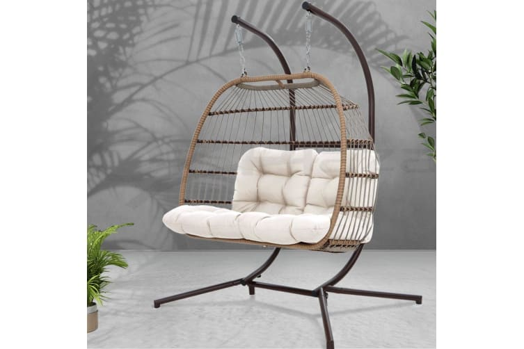 Outdoor Furniture Hanging Swing Chair Stand Egg Hammock Wicker