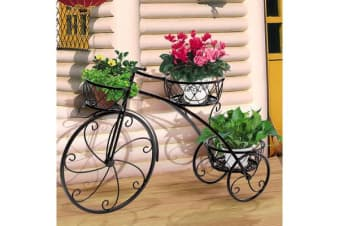 Wrought Iron Pot Plant Stand Flower Rack BLACK