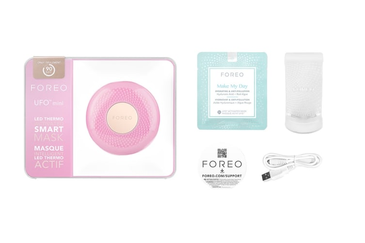 Foreo UFO Mini Smart Mask Treatment Device with Red/Green/Blue LED Lights - Pearl Pink (F4323)