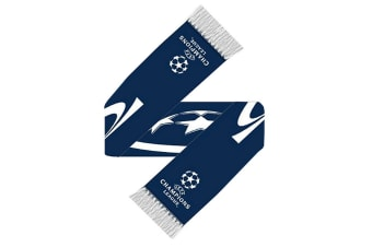UEFA Champions League Knitted Football Crest Scarf (Navy/White) (One Size)