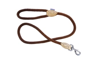 Dog & Co Supersoft Rope Dog Walking Lead (Brown) (One Size)