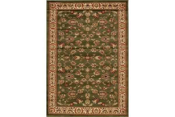 Traditional Floral Pattern Rug Green 230x160cm