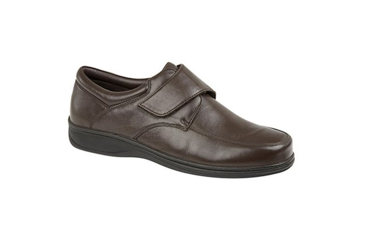 Roamers Mens Super Soft Leather Casual Shoes (Brown) (9 UK)