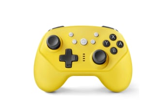 Select Mall Wireless Controller for Switch Pro Switch Controller with Adjustable Vibration for Switch Controller-Yellow