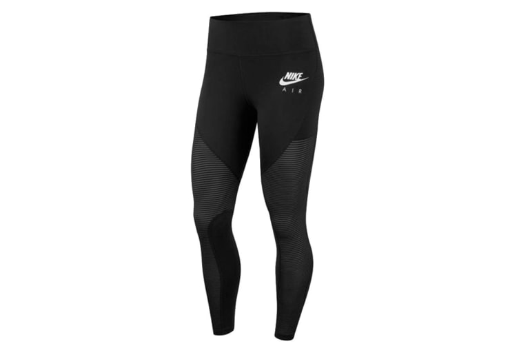 Nike Fast 7/8 Women's Running Tights (Black/White, Size L)