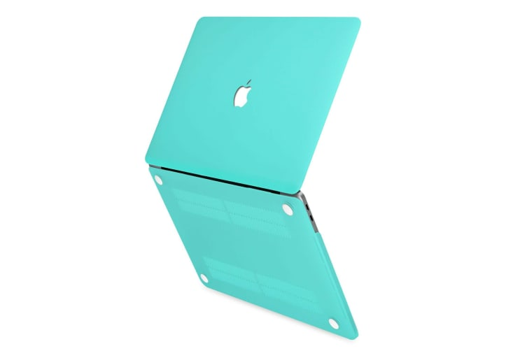 """Hard Case Cover for Apple Macbook Pro 13"""" Inch A1708-Matte Clear-Tiffinay Blue"""