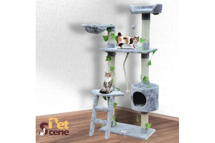 Cat Scratching Post Cat Scratch Gym Climbing Tree - Grey 145cm