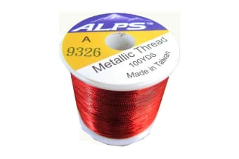 Alps 100yds of Metallic Red Rod Wrapping Thread-Size A (0.15mm) Thread