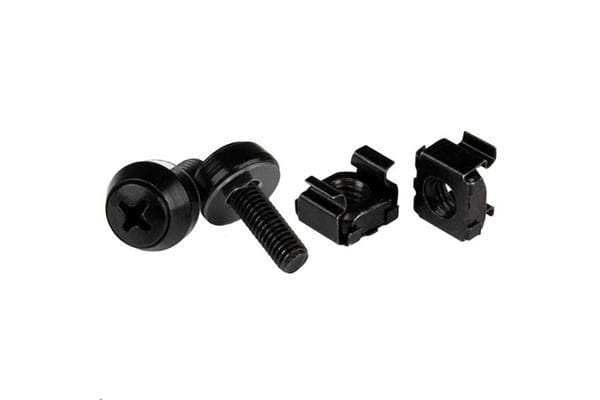 STARTECH CABSCREWM5B M5 Screws & Cage Nuts - 50 Pack Black