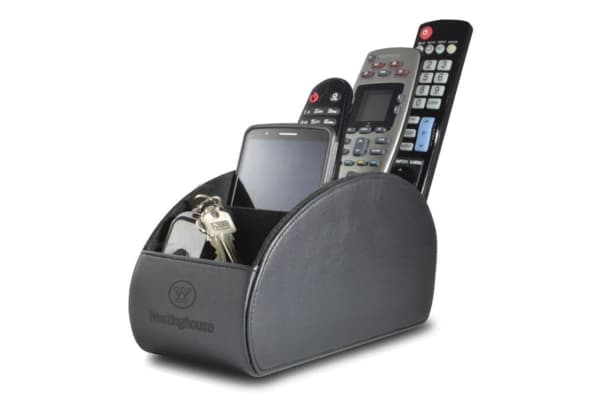 Westinghouse Large 5 Pocket Remote Control Holder - Black