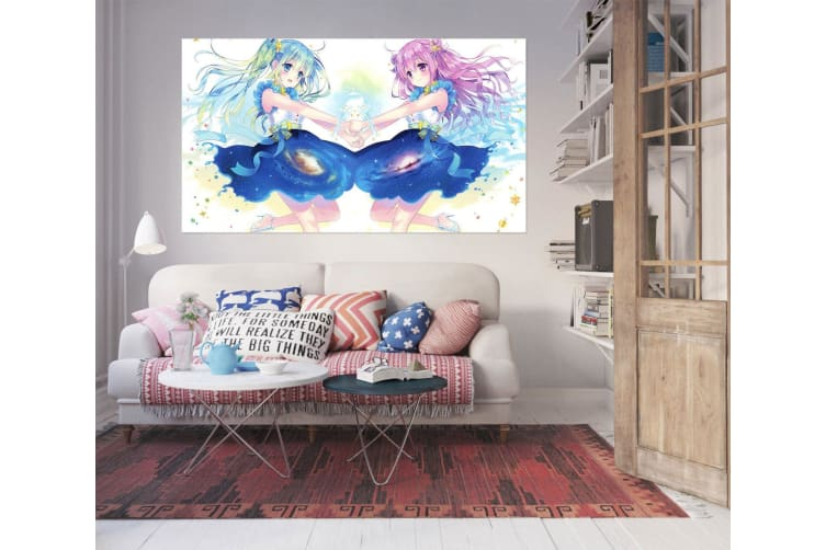 3D Beautiful Girl 558 Anime Wall Stickers Self-adhesive Vinyl, 50cm x 50cm(19.7'' x 19.7'') (WxH)