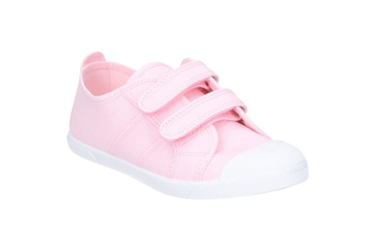 Flossy Sasha Girls Junior Touch Fastening Shoe (Pink) (8 Child UK)