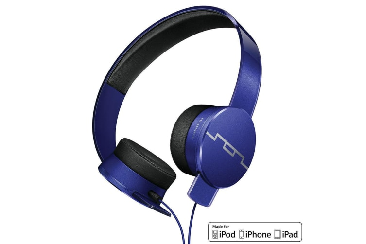 Sol Republic Tracks HD2 Blue High Definition Headphones Headset Mic for iPhone