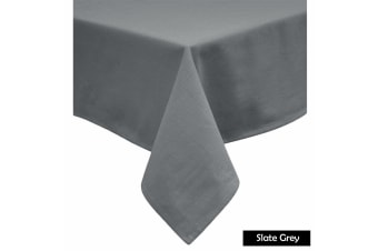 Cotton Blend Table Cloth 180cm x 260cm  - SLATE GREY